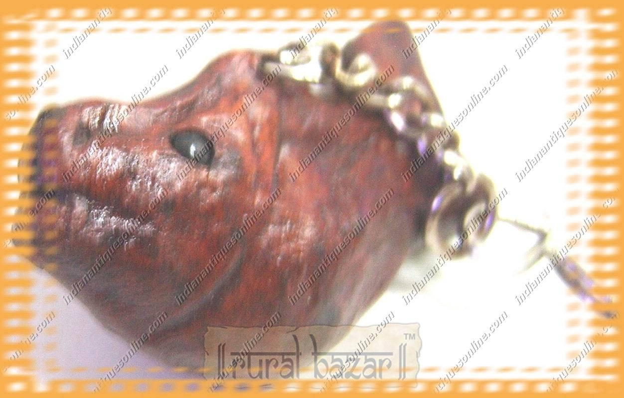 New Unique~Nicely Hand Crafted Fish Leather Key Chain