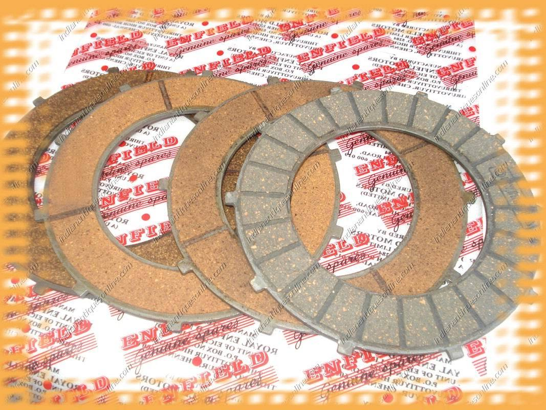 Royal Enfield Bullet Clutch Friction~4Plate Set #597050