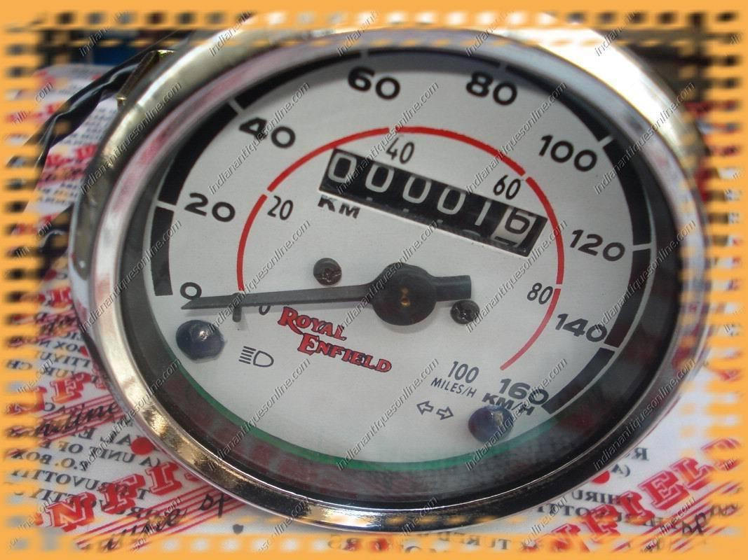 New Royal Enfield Bullet Speedometer White KPH/MPH BN