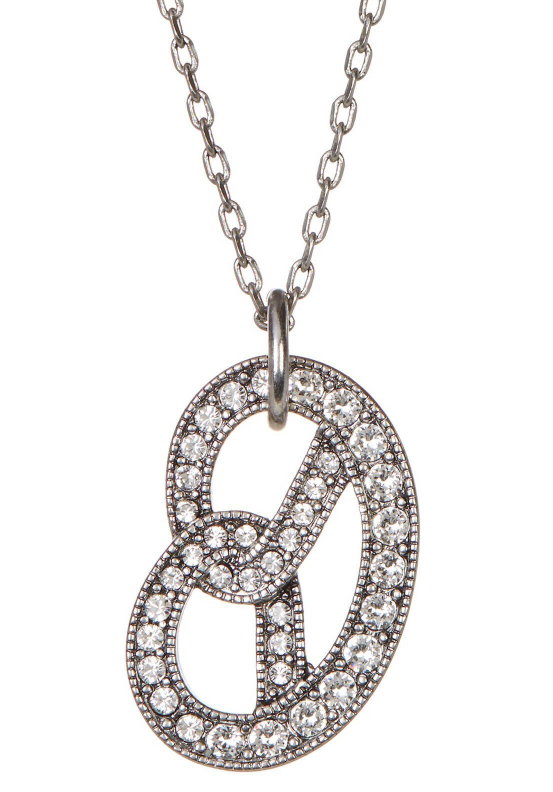 Primary image for Marc Jacobs Necklace Long Pave Pretzel NEW