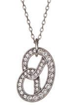 Marc Jacobs Necklace Long Pave Pretzel NEW - $97.89 CAD
