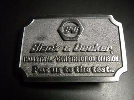 Hit Line USA Belt Buckle Black & Decker Industrial Construction Division - $16.99