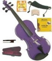 1/4 Size Purple Violin,Case,Bow,2 Sets String,Rosin,2Bridges,Tuner,Shoulder Rest - $45.00