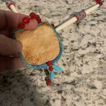 BEADED Indian Native American Style Medicine Pouch Necklace Seed Bead CHILDRENS image 3