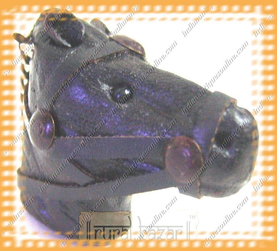 Unique Hand Crafted Horse Face Leather Key Chain