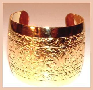 2 wide gold cuff bracelet