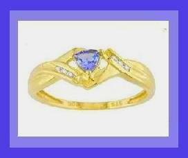 Tanzanite   diamond ring 2