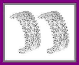 STERLING SILVER FANCY DESIGN 1 INCH POST EARRINGS - $39.99