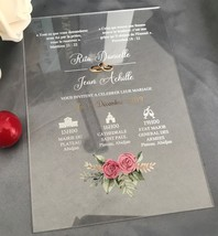 Free design acrylic wedding invitations,10pcs Acrylic wedding invites,me... - $32.00