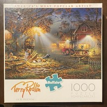 Jigsaw Puzzle 1000 Pieces Buffalo 'Our Friends' By Artist Terry Redlin - $10.74