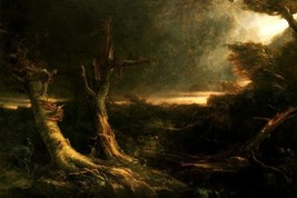 Tornado In The Wilderness American Landscape 1835 Painting By Thomas Cole Repro - $10.96+