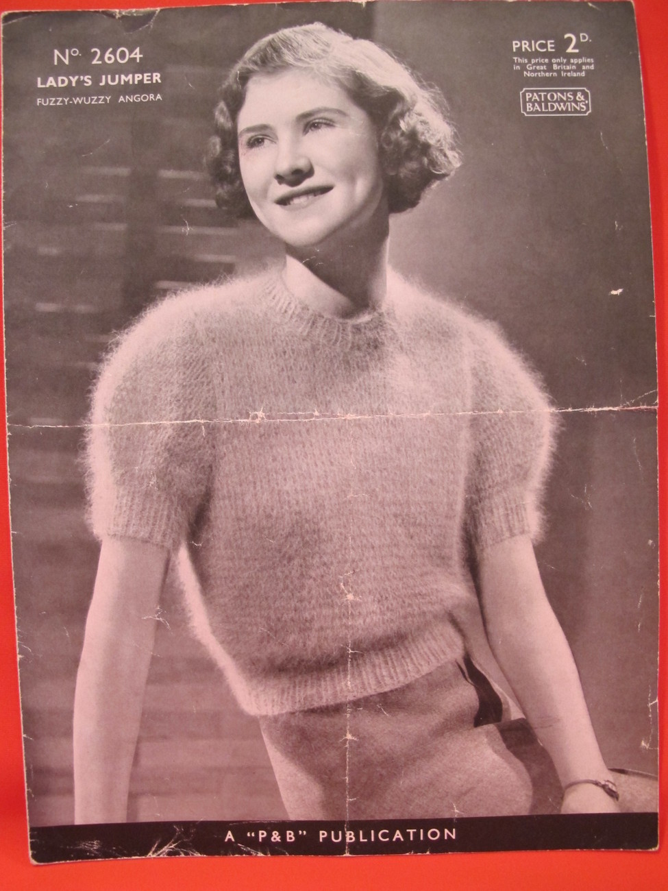 Vintage Fuzzy Wuzzy Angora Knitting Patterns LADYS Jumper Sweater
