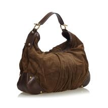 Pre-loved Gucci Brown Suede Jockey Hobo Bag Italy - $471.16