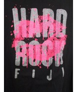 Authentic Hard Rock Cafe HRC FIJI Black Music Womens T Shirt X Large  - $18.80