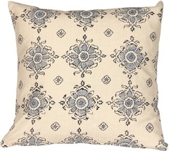 Pillow Decor - Medallion Handprint Lake 16X16 Throw Pillow - $29.95