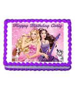 Barbie Princess and the Popstar Edible Cake Image Cake Topper - $8.98+