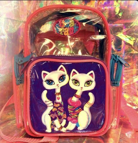 Lisa Frank Roxie Rollie Rare Both White Fur! Mini Backpack Earlier R+R Design