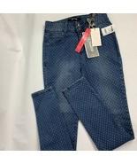 NWT Women's Rewash High Rise Skinny Jeans White Dots Size 2 - $19.80