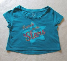 Girl's Children's Place Teal Reach for the Stars Shirt Top Size 5/6 - $4.00