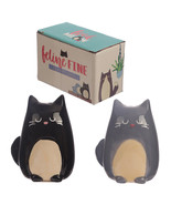 Salt and Pepper Shakers set, Cute Cat Design Ceramic Kitchen Tools in Gi... - $12.88