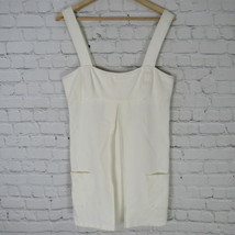 Diane von Furstenberg Camisole Dress Womens Size 12 Cream Color Short - $30.34