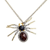 Large Crystal Spider Necklace Pendant Spider Jewelry, Jewl-Spider 2 - $8.78