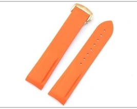 Bracelet FOR Omega Seamaster Speedmaster Silicone rubber band Orange 22mm gold - $39.99
