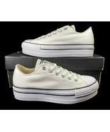Converse Chuck Taylor All Star Lift Platform Ox Sneaker White 540265F 7.... - $65.00