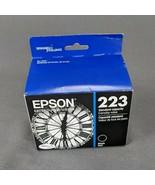Genuine Epson 223 Black Ink Cartridge Printer T23120 NEW OEM Exp 12/2022 - $19.30
