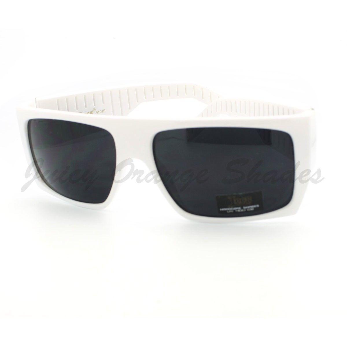 186ccd871b0 Locs Sunglasses Mens Flat Top Square Gangster Mob Fashion Shades