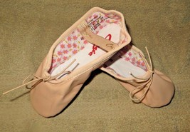 Capezio 205SC Split Sole Daisy Leather Ballet Pink Shoes Size 13.5N 13.5... - $26.00