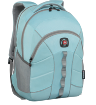 "SwissGear Wenger Sun Backpack With 16"" Laptop Pocket, Light Blue / Plume Gray"
