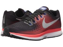 Men's Nike Zoom Pegasus 34 Running Shoes, 880555 006 Multi Sizes Black/Met Silve - $109.95