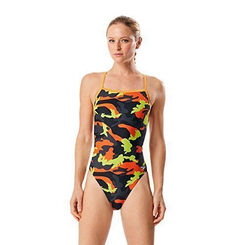 Primary image for Speedo 7719834 Women's Camo Squad Flyback ProLT One Piece Orange 0/26