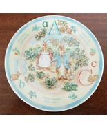 Wedgwood Peter Rabbit ABC Child's Plate In Box Made In UK - $23.18