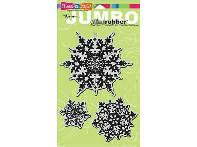 Stampendous Jumbo Snowflakes rubber Stamp Set #CRS5014