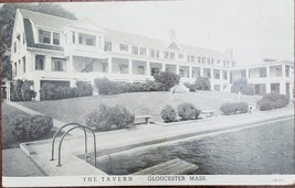 The Tavern Gloucester Massachusettes vintage B&W Postcard - $2.95