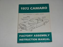 Vintage 1972 Chevrolet Camaro Factory Assembly Instruction Manual Z/28 Rs Ss Lt - $22.50