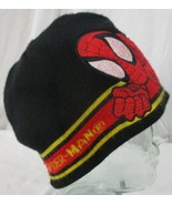 SPIDER MAN Marvel Knit HAT Child Boy's Winter Knit Beanie black/red - $6.23