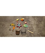 BIRD TOYS FOR SMALL BIRDS SWING BELLS RINGS CLIP ON FOOD CUPS - $5.00+