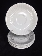 """LOT of 6 Leeds Alfred Meakin England White Ironstone 5 5/8"""" Saucers - $19.79"""