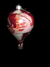Coca-Cola Handcrafted Glass Hot Air Balloon Santa Christmas Holiday Orna... - $19.80