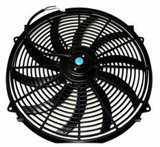 """16"""" Electric Fan 3000 CFM Wiring Install Kit Complete Thermostat 50AMP Relay image 2"""