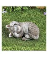 Grey Tabby Sleeping Kitty Garden Figure (col) J5 - $89.09