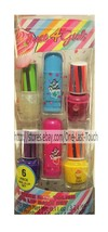 JUST 4 GIRLS* 6pc Gift Set CUPCAKE Nail Polish+Lip Balm HOLIDAY Yellow+P... - $7.91