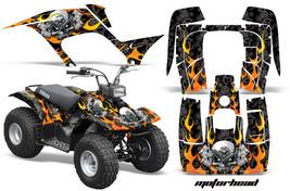 ATV Graphics Kit Quad Sticker Decal Wrap For Yamaha Breeze 125 89-04 MOTOHD BLK - $169.95