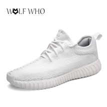 Lace breathable Yeezies Men 350 light Version Ultra Sneakers Mesh Shoes up Air PTnqXw