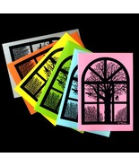 Silhouette: Winter View From Old Danish Barn Window. 6 Folded Cards by N... - $10.00