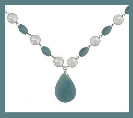 Amazonite   pearl ss necklace 2