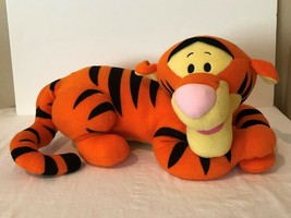 "Disney Tigger Plush 22"" Stuffed Animal Large Tiger Laying Down Big Soft Toy image 1"